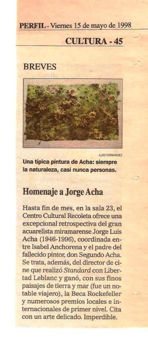 Noticia Homenaje Jorge Acha