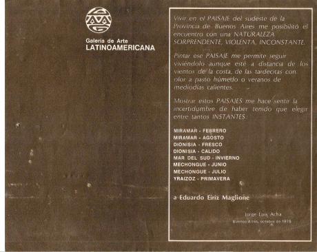 Paisajes - J.L. Acha Dorso